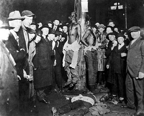 Postcad of the lynchings